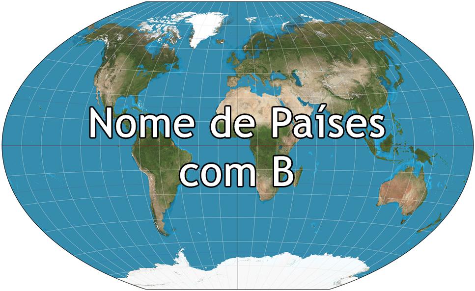 Nome de Países com B