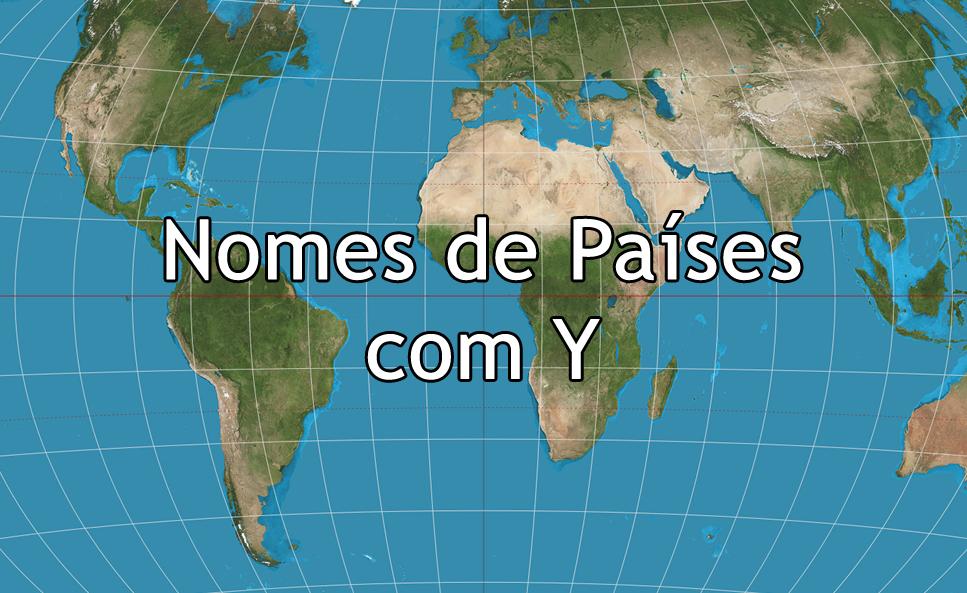 Nomes de Países com Y