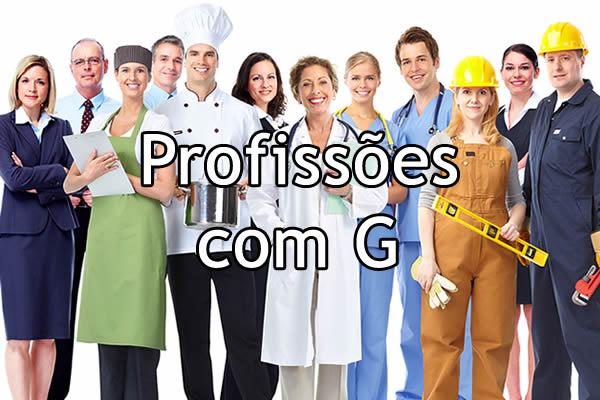 Profissões com G