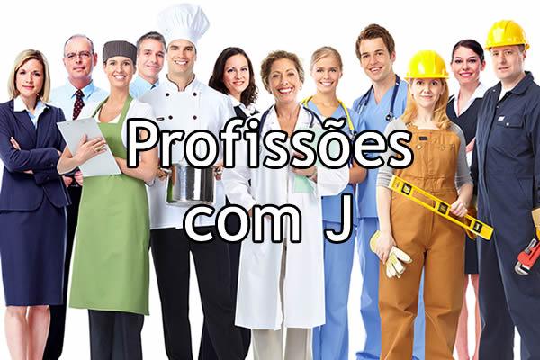 Profissões com J