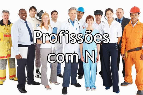 Profissões com N