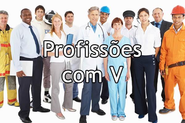 Profissões com V
