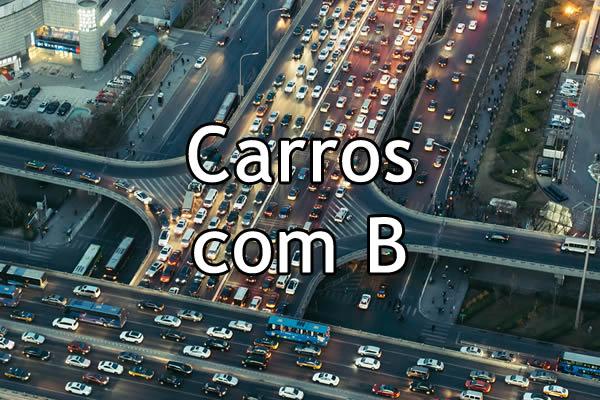 Carros com B