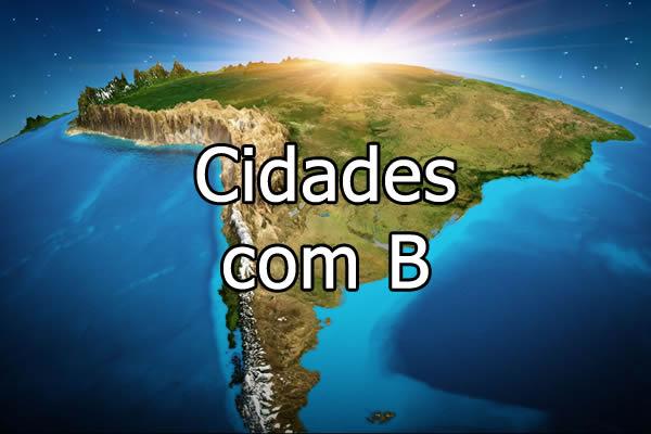 Cidades com B