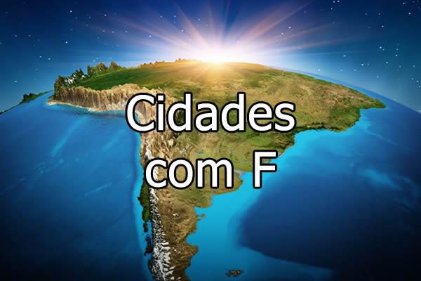 Cidades com F