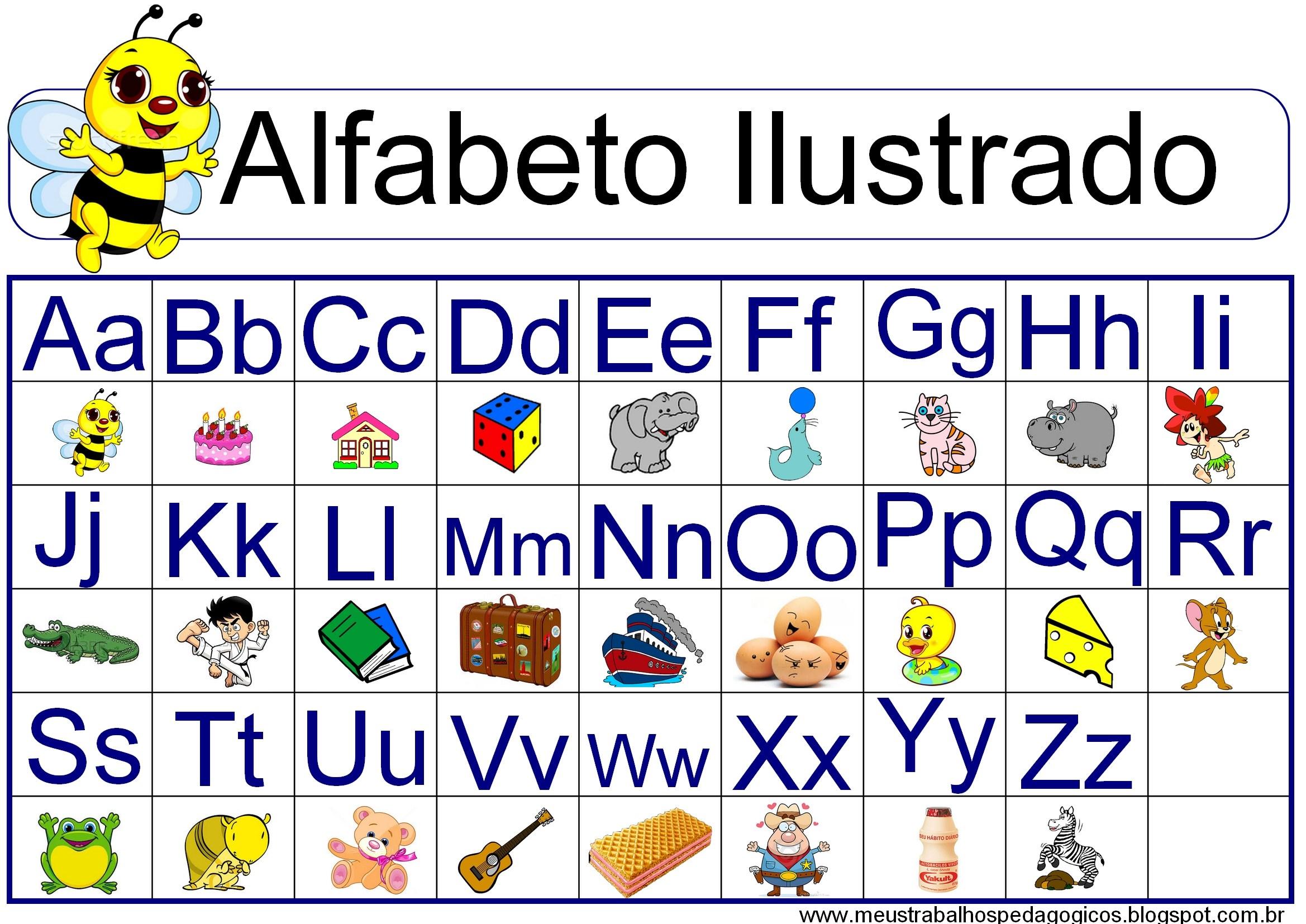 Alfabeto Completo Da Lingua Portuguesa Abecedario