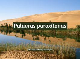 Palavras paroxítonas